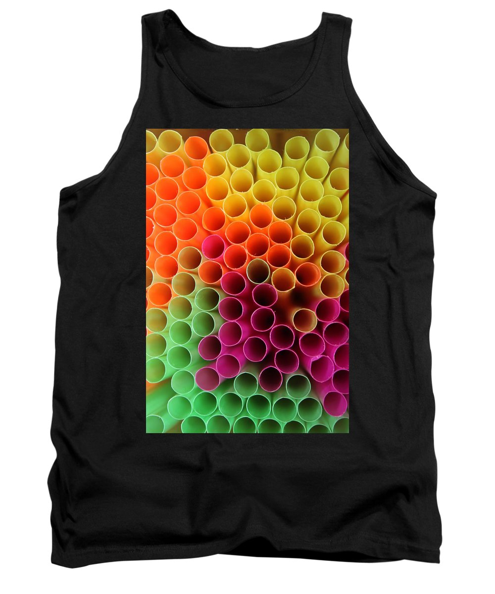 Straw Tank Top featuring the photograph Pick A Straw by Lauri Novak