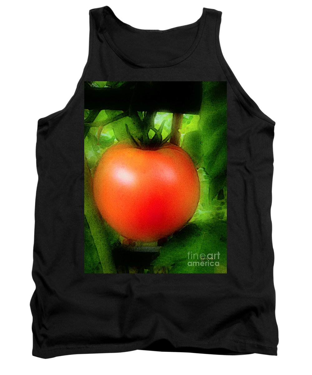 Garden Tank Top featuring the painting Picture Perfect by RC DeWinter