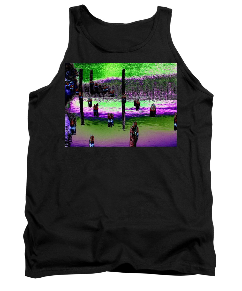 Pilings Tank Top featuring the photograph Pilings Of The Past by Tim Allen