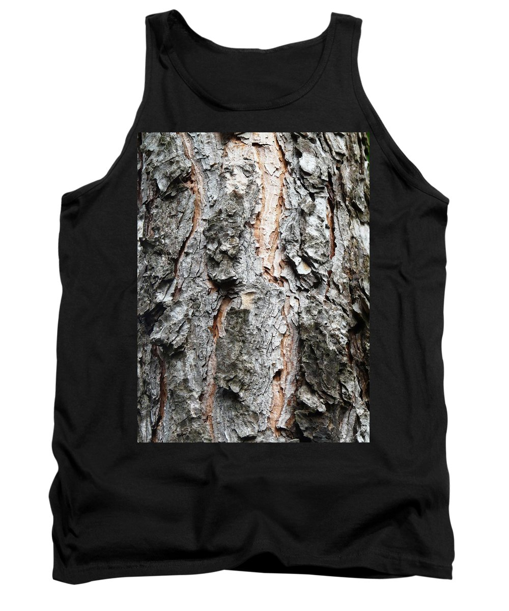 Pine Tank Top featuring the photograph Pine Bark by Valerie Ornstein