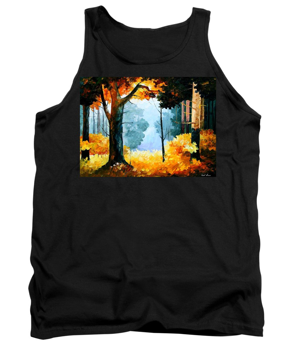 Afremov Tank Top featuring the painting Pine Wood by Leonid Afremov