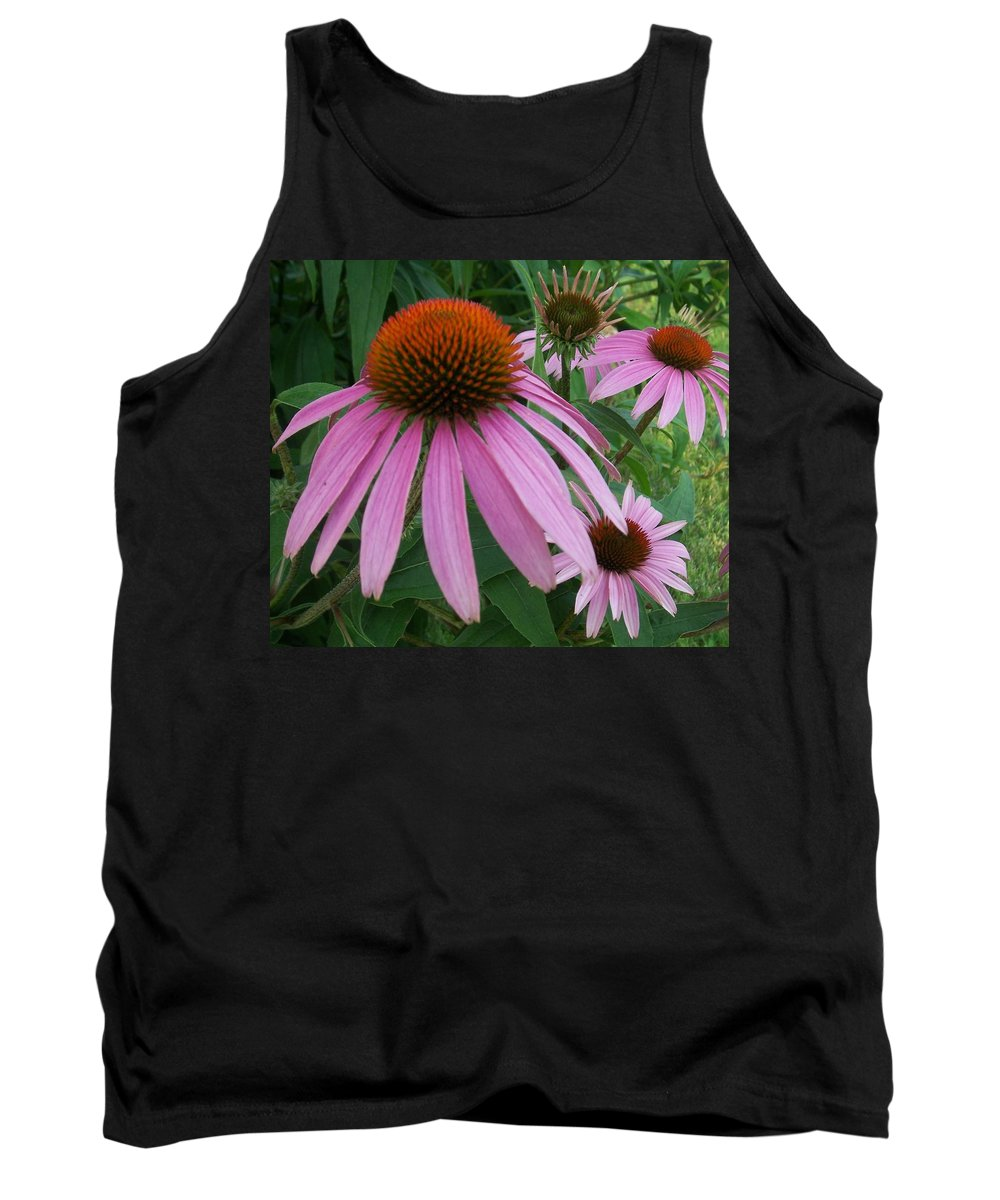 Flowers Tank Top featuring the photograph Pink In The Garden by Anita Burgermeister