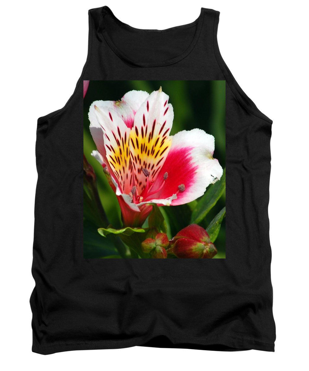 Peruvian Tank Top featuring the photograph Pink Peruvian Lily 1 by Amy Fose