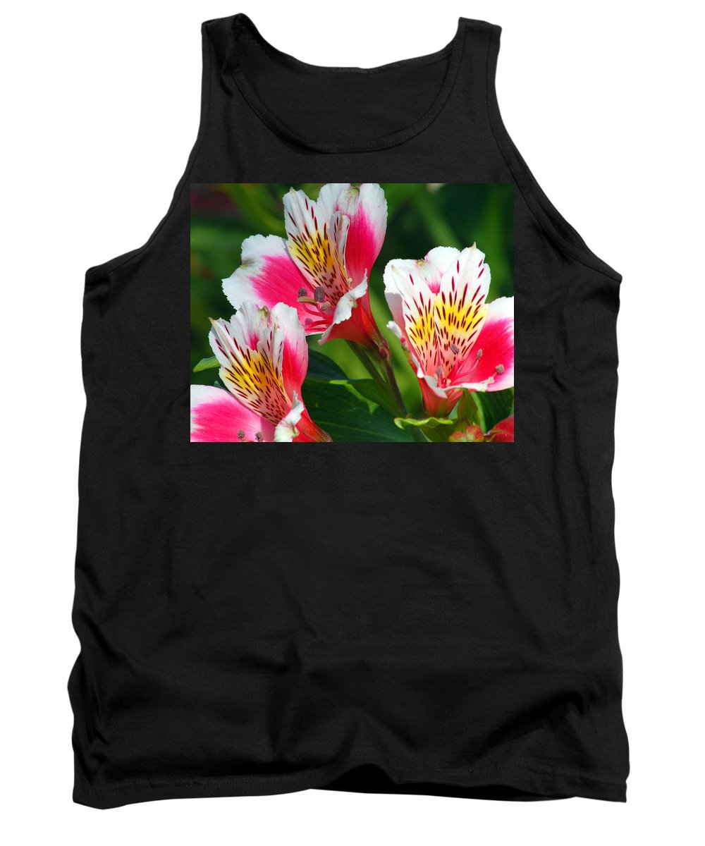 Peruvian Tank Top featuring the photograph Pink Peruvian Lily 2 by Amy Fose
