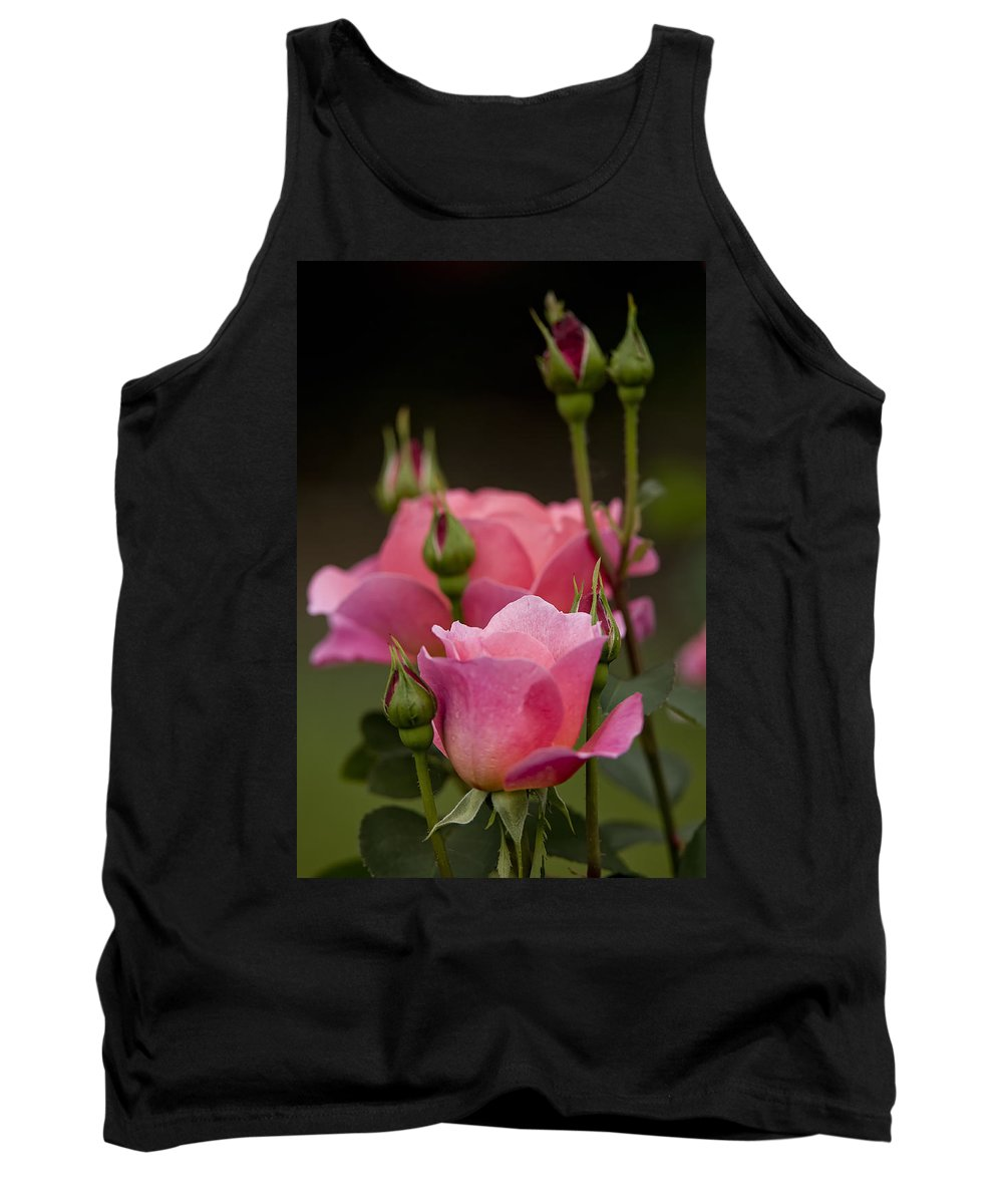 Gardens Tank Top featuring the photograph Pink Rose 2 by Michael Cummings