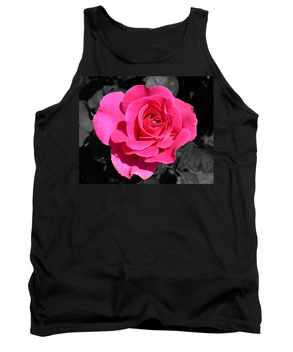 Pink Tank Top featuring the photograph Perfect Pink Rose by Michael Bessler
