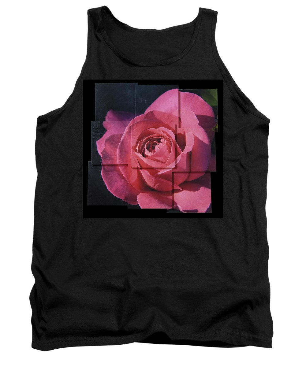 Rose Tank Top featuring the sculpture Pink Rose Photo Sculpture by Michael Bessler