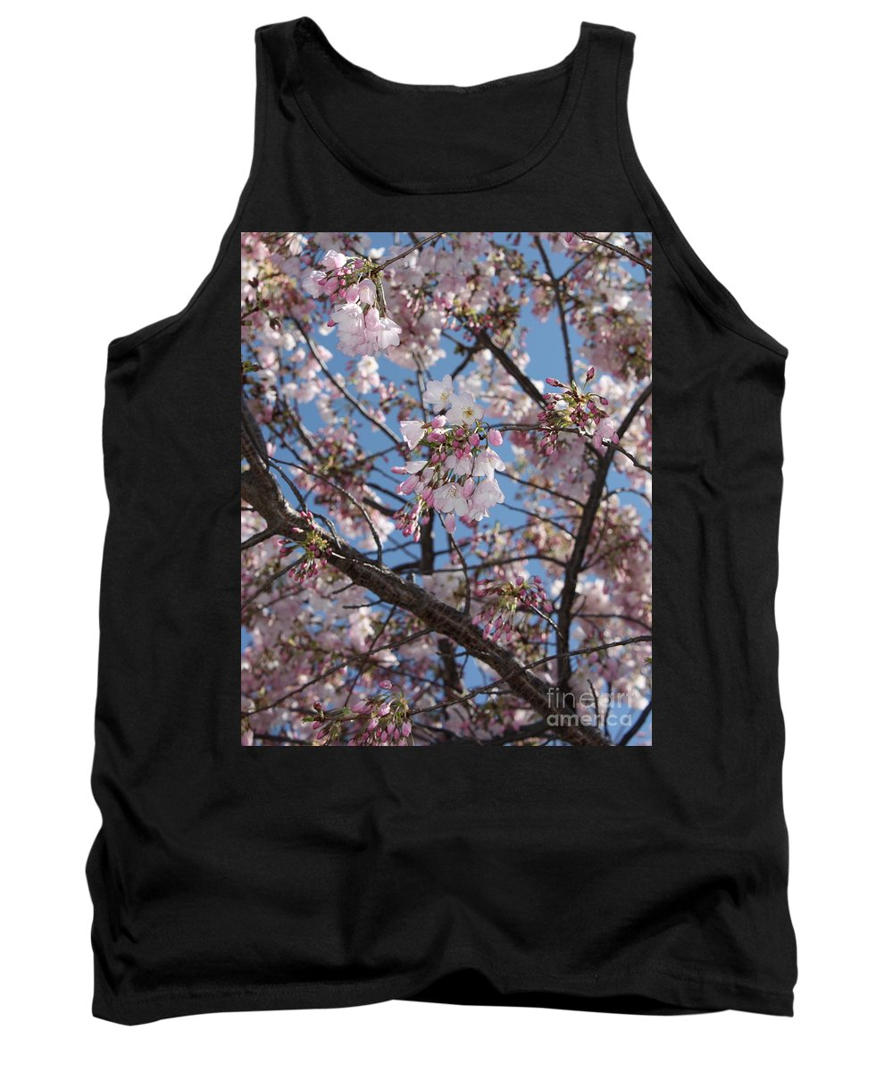 Spring Tank Top featuring the photograph Pink Spring Blossoms by Carol Groenen