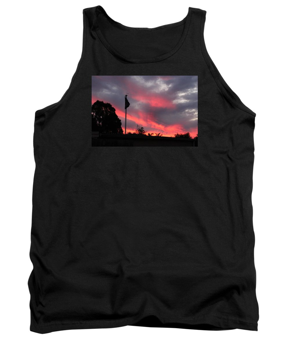 Tank Top featuring the photograph Pink Sunset by Dale Mason