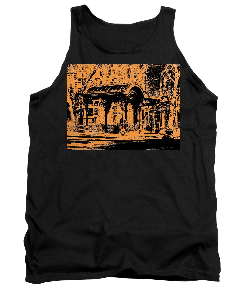 Seattle Tank Top featuring the digital art Pioneer Square Pergola by Tim Allen