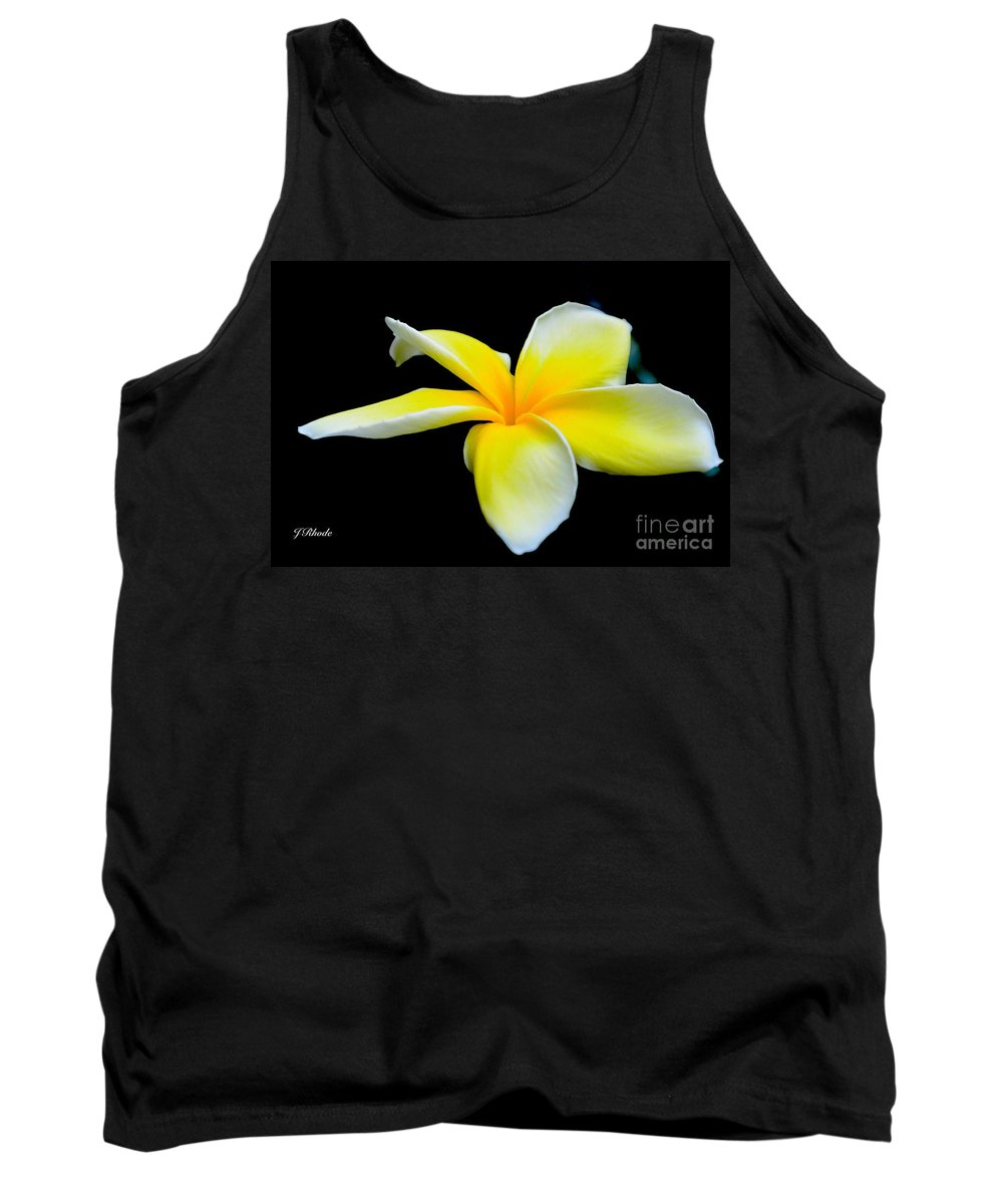 Plumeria In Yellow Tank Top featuring the photograph Plumeria In Yellow by Jeannie Rhode