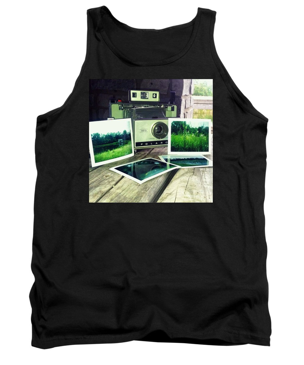 Instant Tank Top featuring the photograph Polaroid Land 320 by Kenn Eden