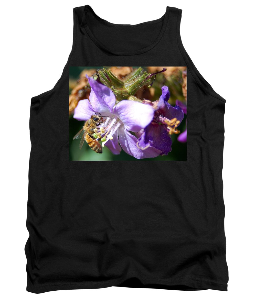 Bee Tank Top featuring the photograph Pollinating 1 by Amy Fose