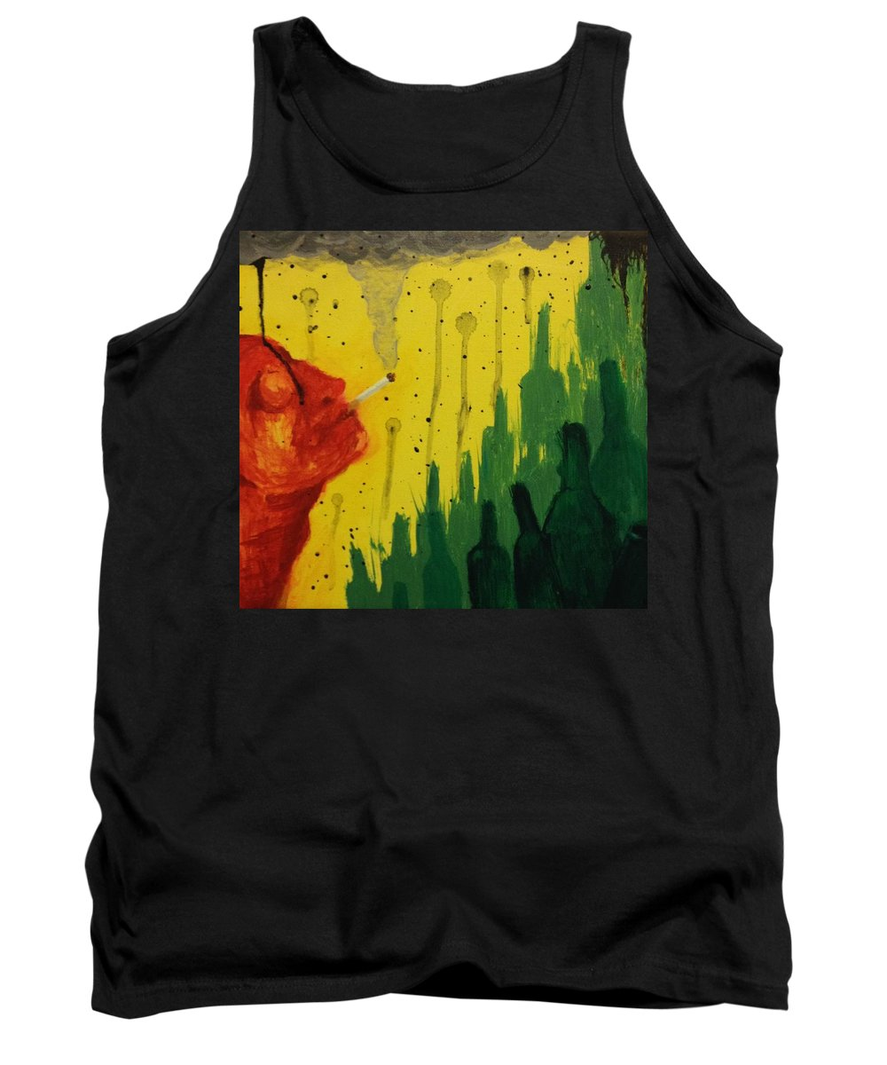 Cigarette Tank Top featuring the painting Pollution by Zach Hunter