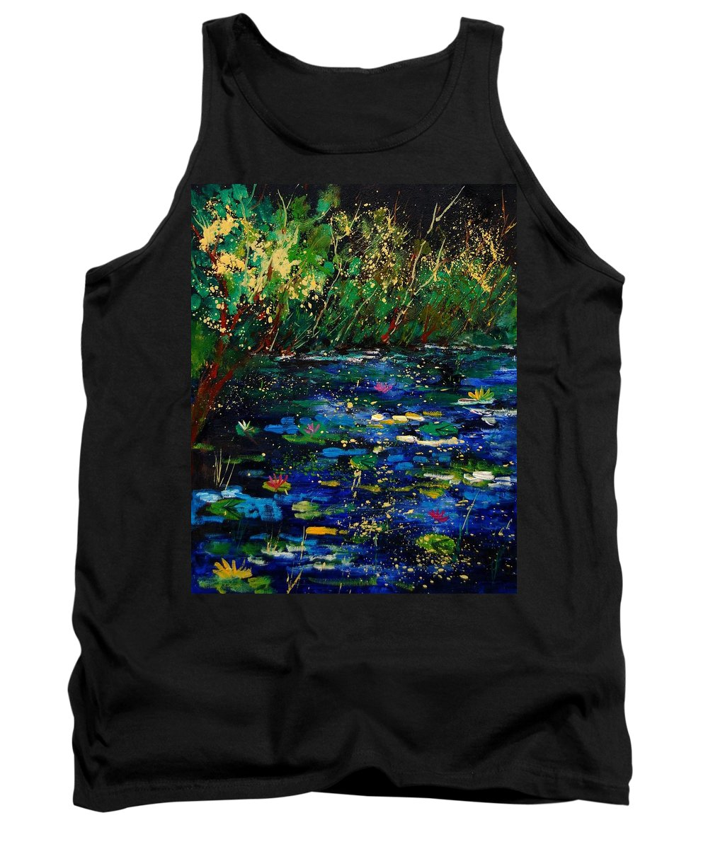 Water Tank Top featuring the painting Pond 459030 by Pol Ledent