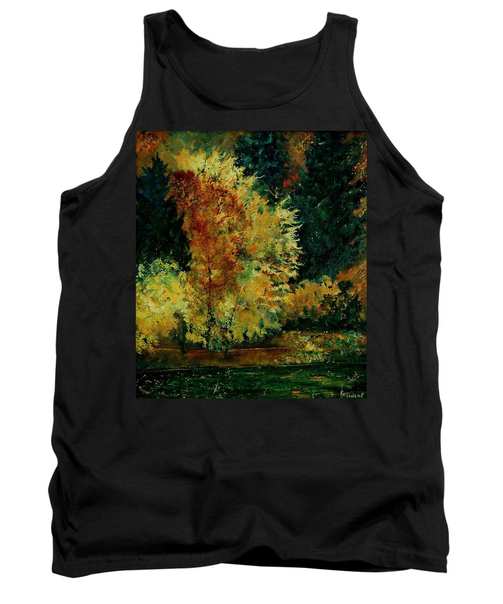Landscape Tank Top featuring the painting Pond In Fenffe by Pol Ledent