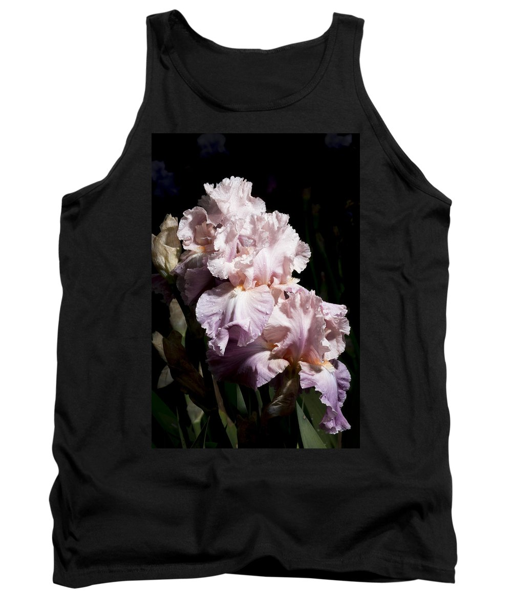 Agriculture Tank Top featuring the photograph Pond Lily Iris by John Trax