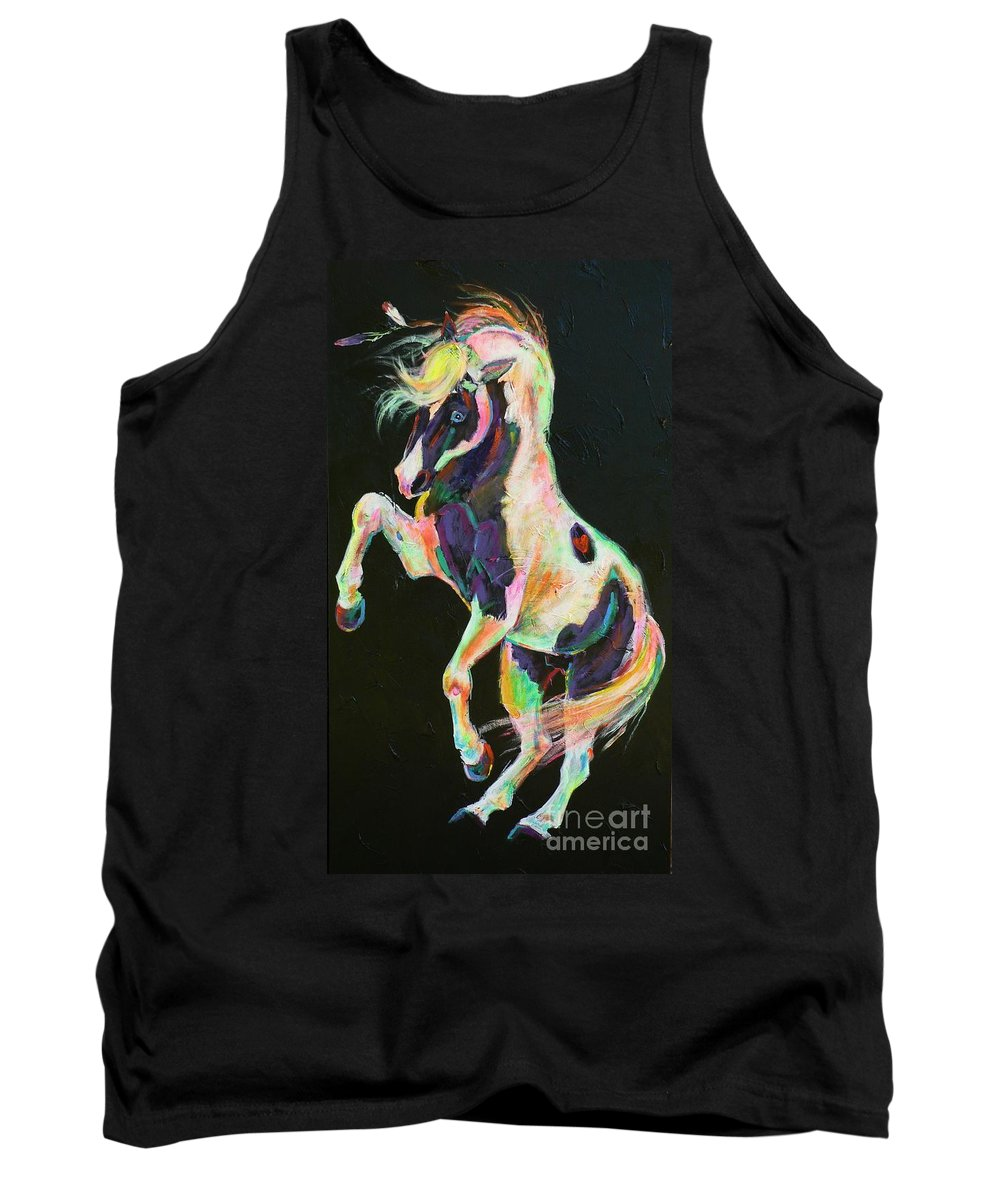 Paint Tank Top featuring the painting Pony Power II by Louise Green