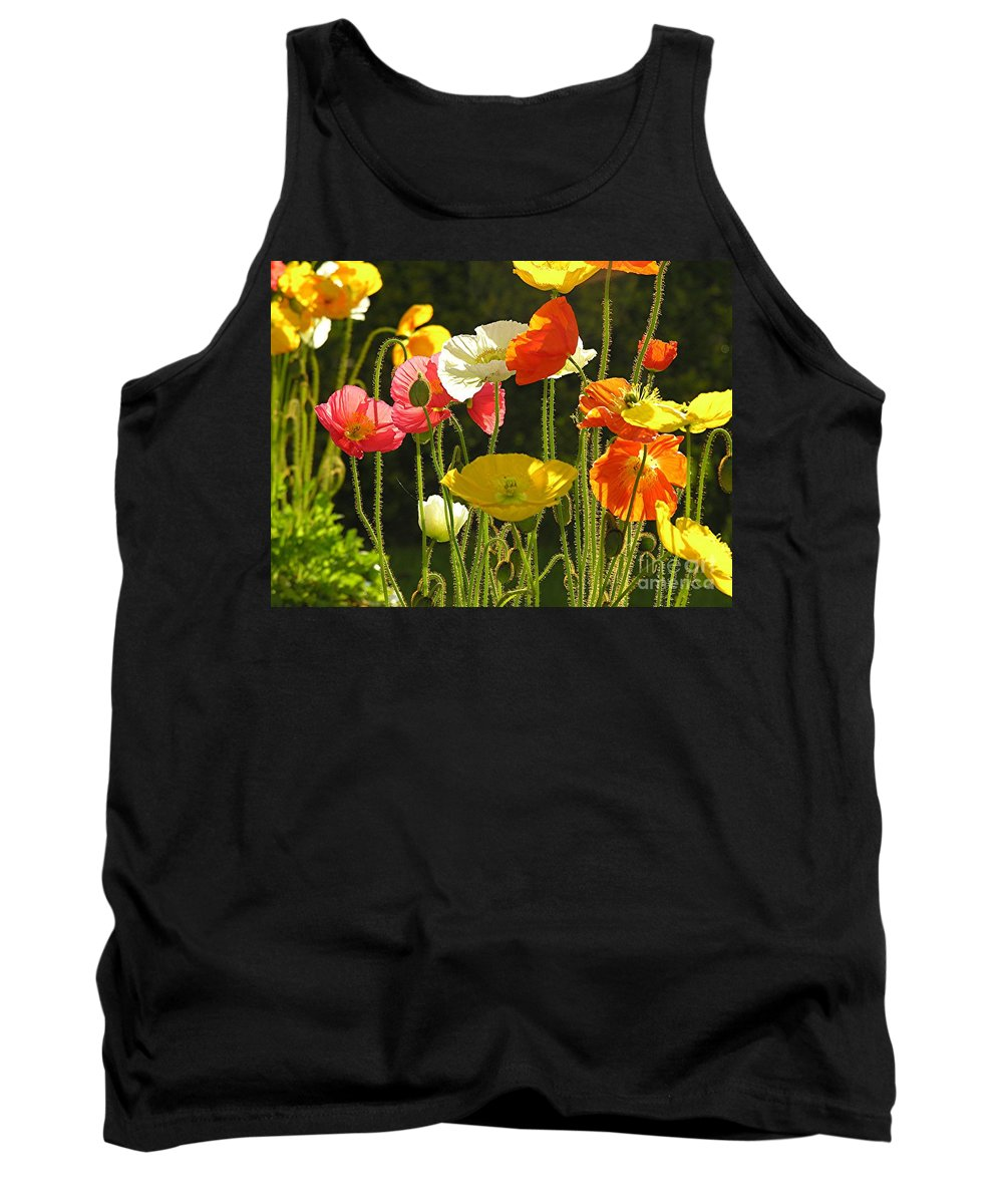 Poppy Tank Top featuring the photograph Poppies by Diane Greco-Lesser