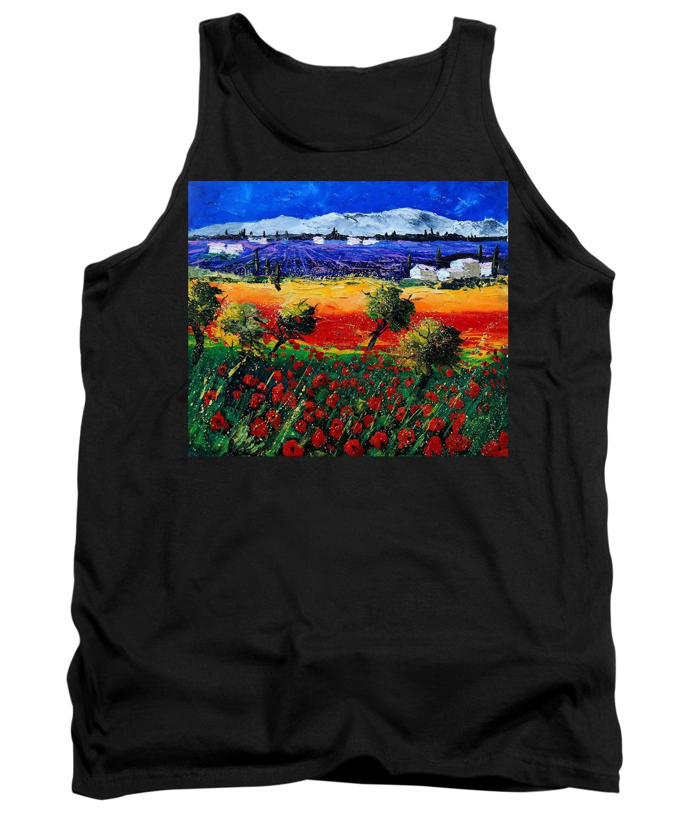 Poppy Tank Top featuring the painting Poppies In Provence by Pol Ledent
