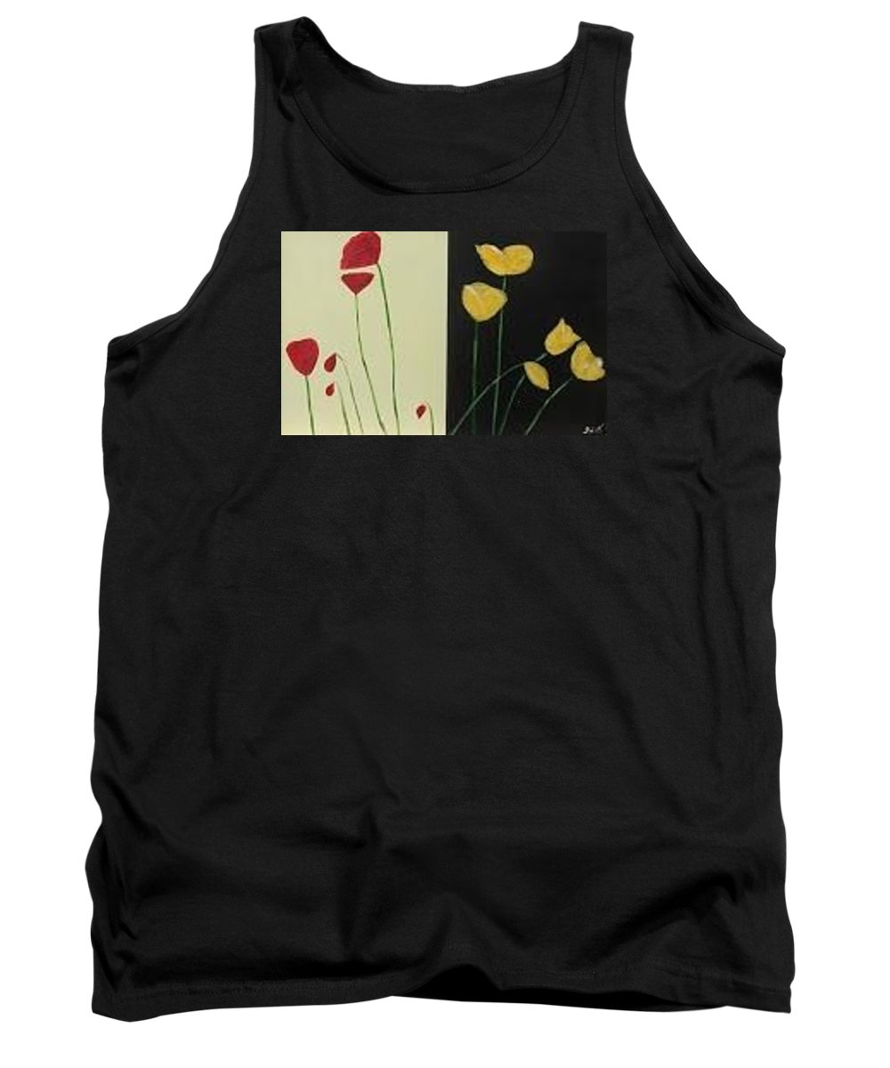 Poppies Tank Top featuring the painting Poppies by Jennifer Whitworth