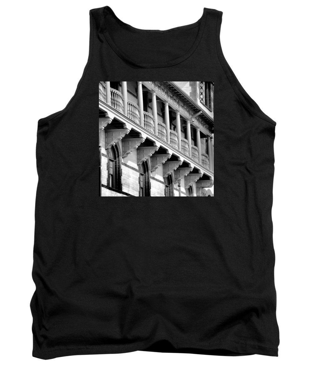 Colleges Tank Top featuring the photograph Porches Of Flagler College by Larry Jones