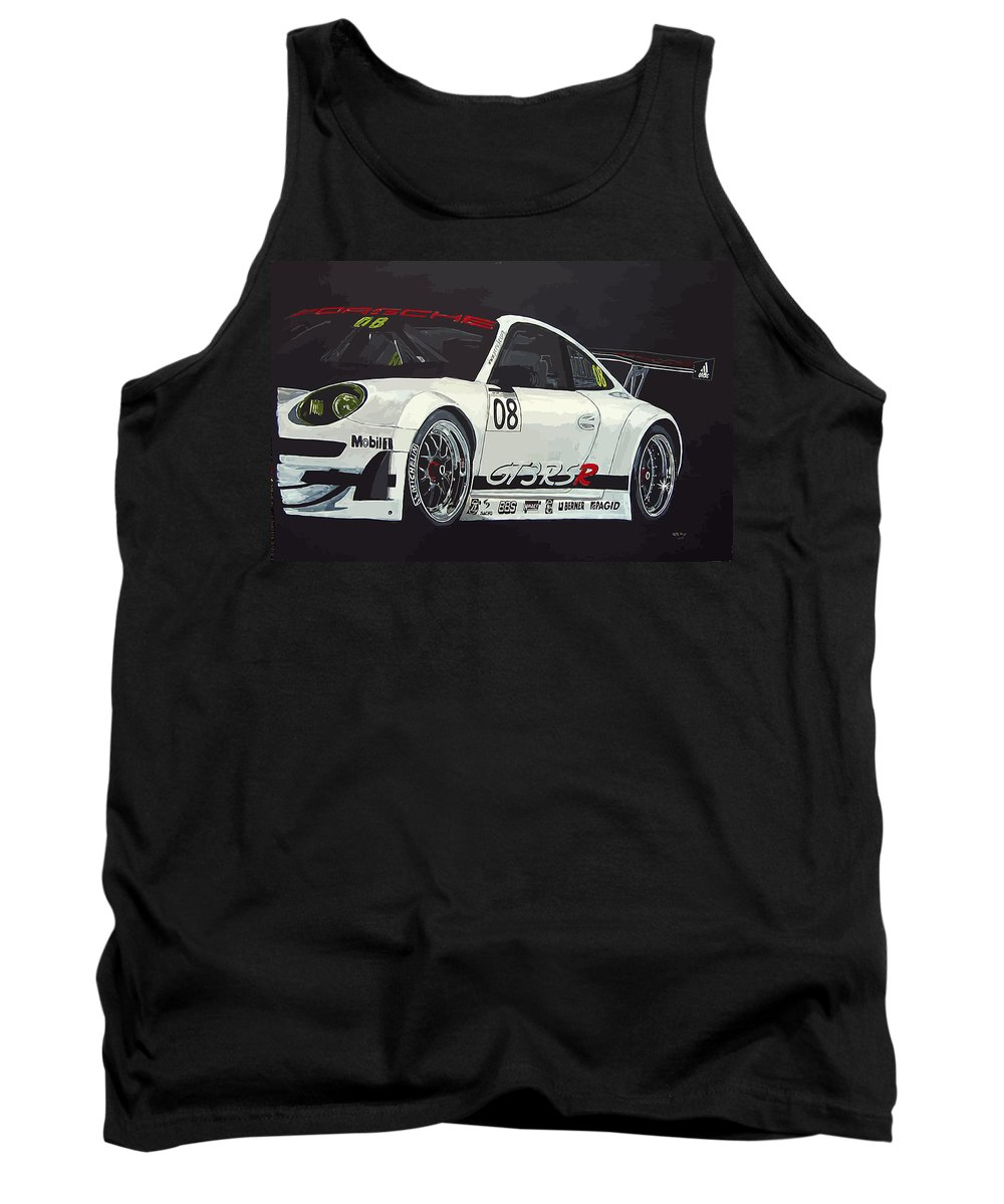Car Tank Top featuring the painting Porsche Gt3 Rsr by Richard Le Page
