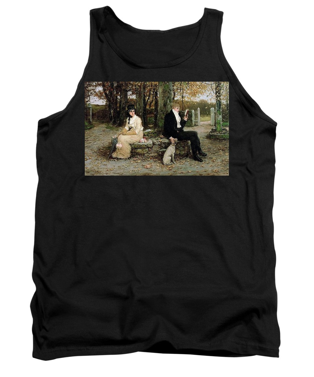 Tree Tank Top featuring the digital art Portrait Of A Young Girl Adolphe William Bouguereau by Eloisa Mannion