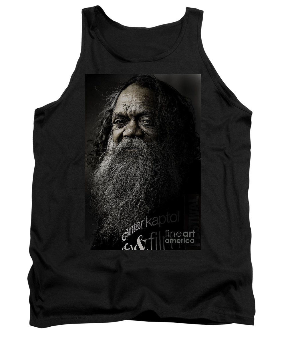 Aboriginal Tank Top featuring the photograph Portrait Of Cedric by Sheila Smart Fine Art Photography