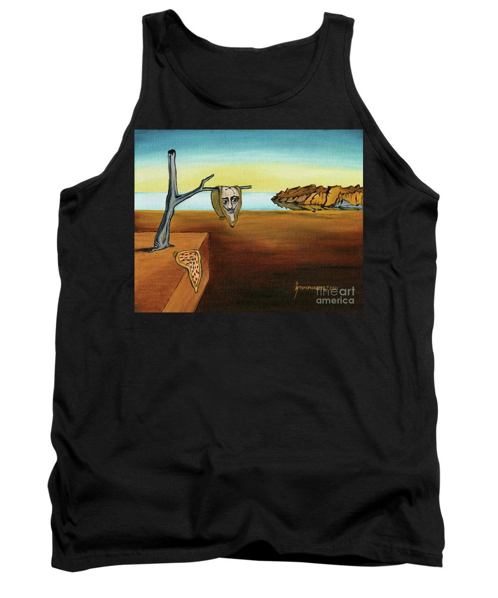 Dali Tank Top featuring the painting Portrait Of Dali The Persistence Of Memory by Jerome Stumphauzer
