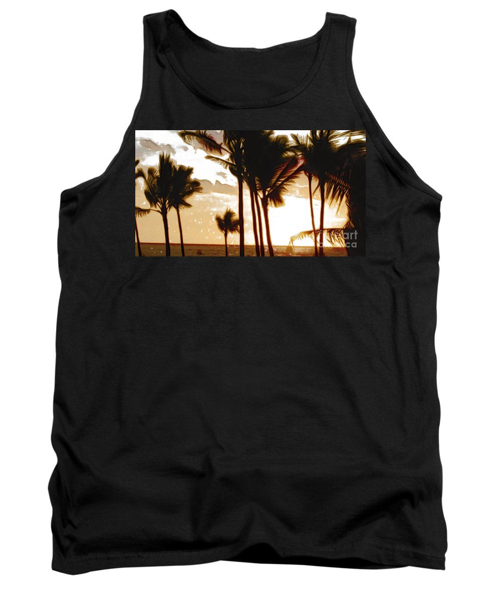 Palm Tank Top featuring the photograph Portrait Of Paradise by Paulette B Wright