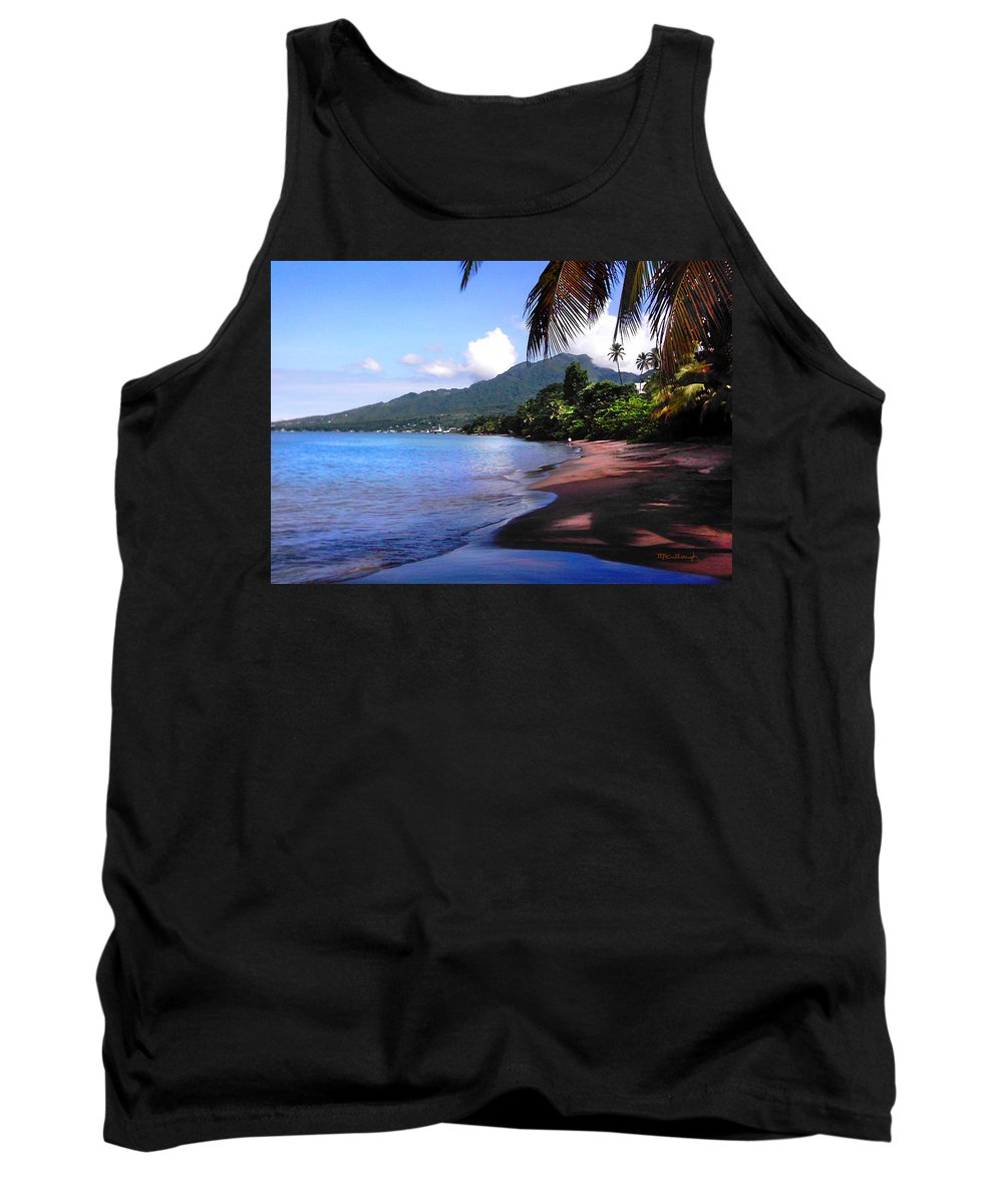 Porthsmouth Tank Top featuring the photograph Portsmouth Shore On Dominica Filtered by Duane McCullough