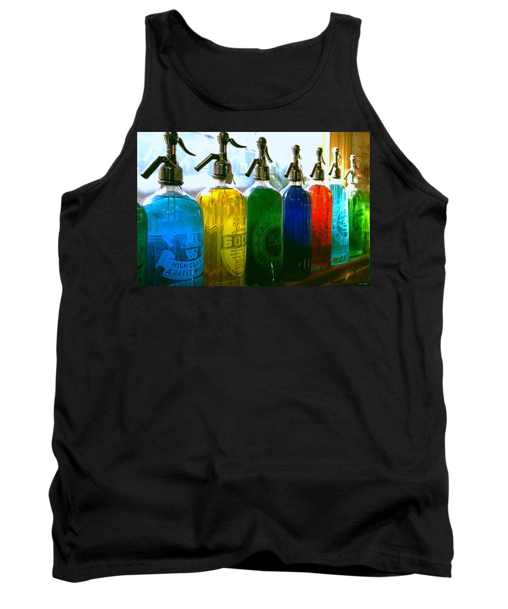 Food And Beverage Tank Top featuring the photograph Pour Me A Rainbow by Holly Kempe