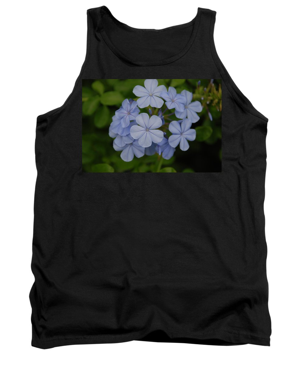 Macro Tank Top featuring the photograph Powder Blue Flowers by Rob Hans