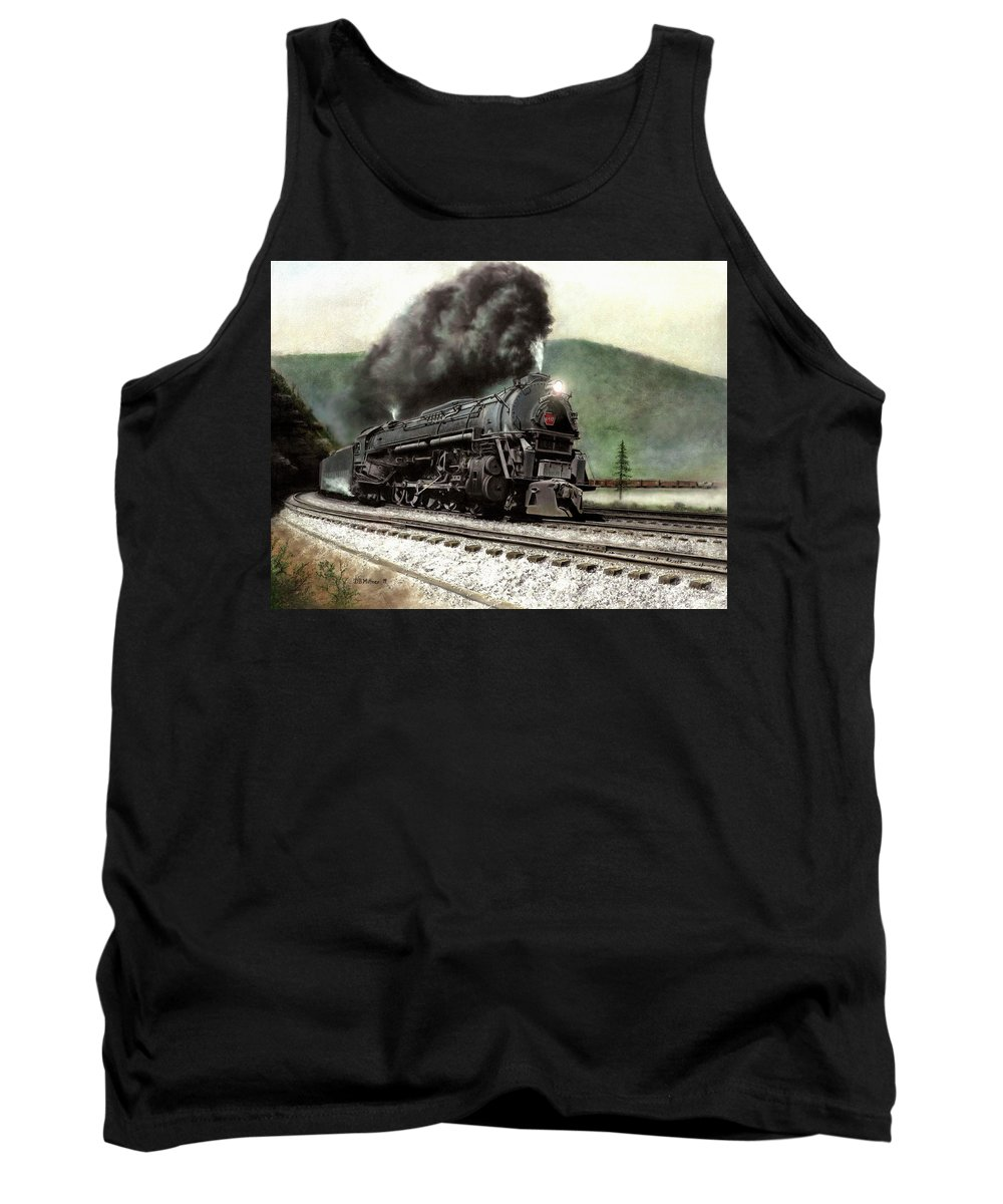 Tank Top featuring the painting Power On The Curve by David Mittner