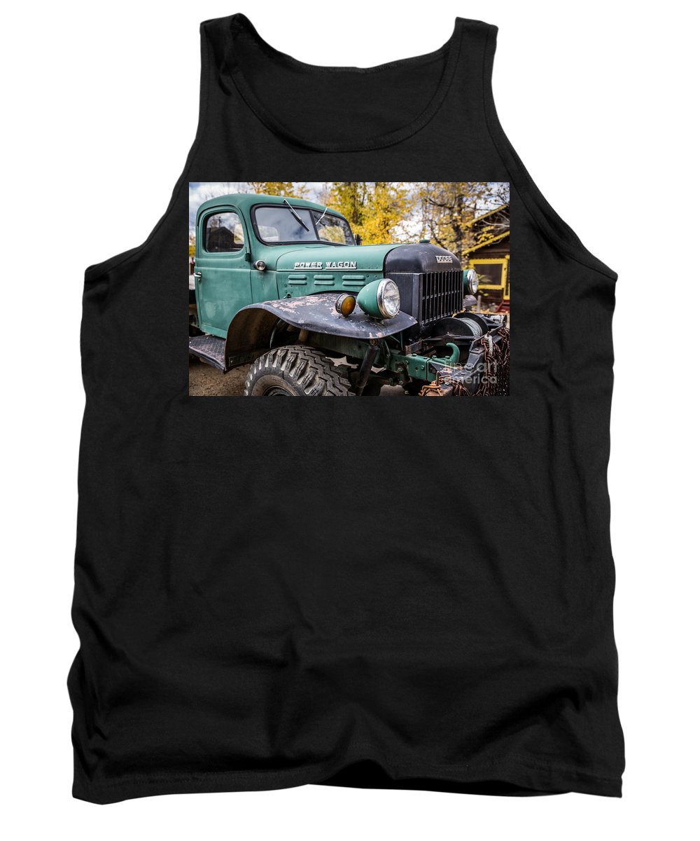 Power Wagon Tank Top featuring the photograph Power Wagon by Lynn Sprowl