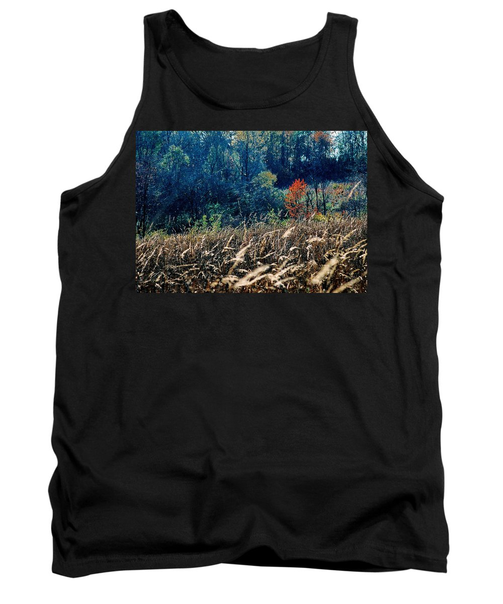 Landscape Tank Top featuring the photograph Prairie Edge by Steve Karol