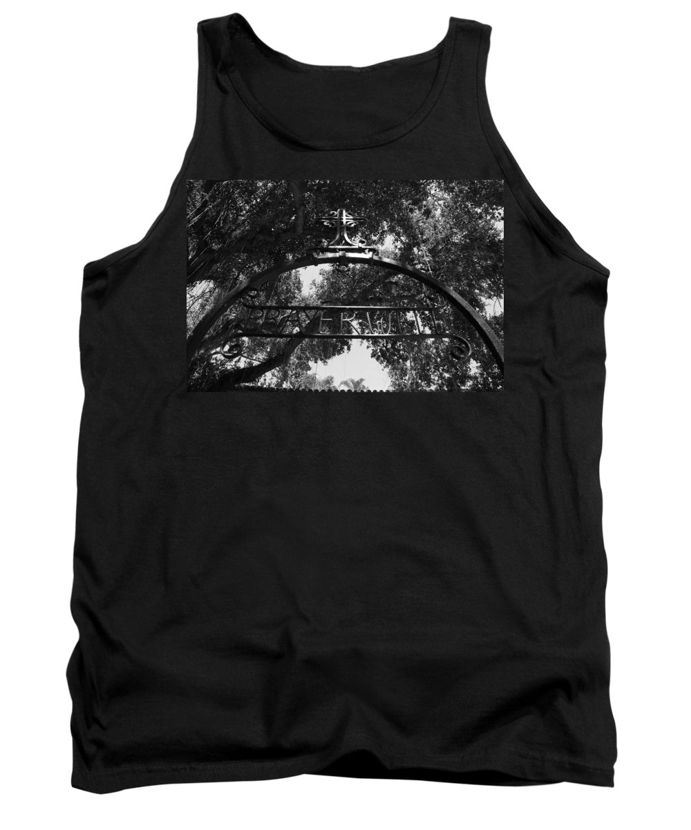 Black And White Tank Top featuring the photograph Prayer Well by Rob Hans