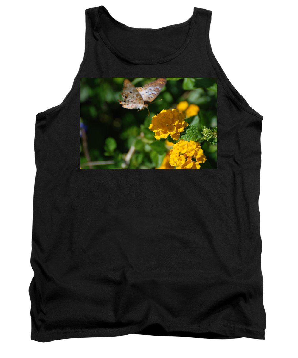 Butterfly Tank Top featuring the photograph Pre Landing by Rob Hans