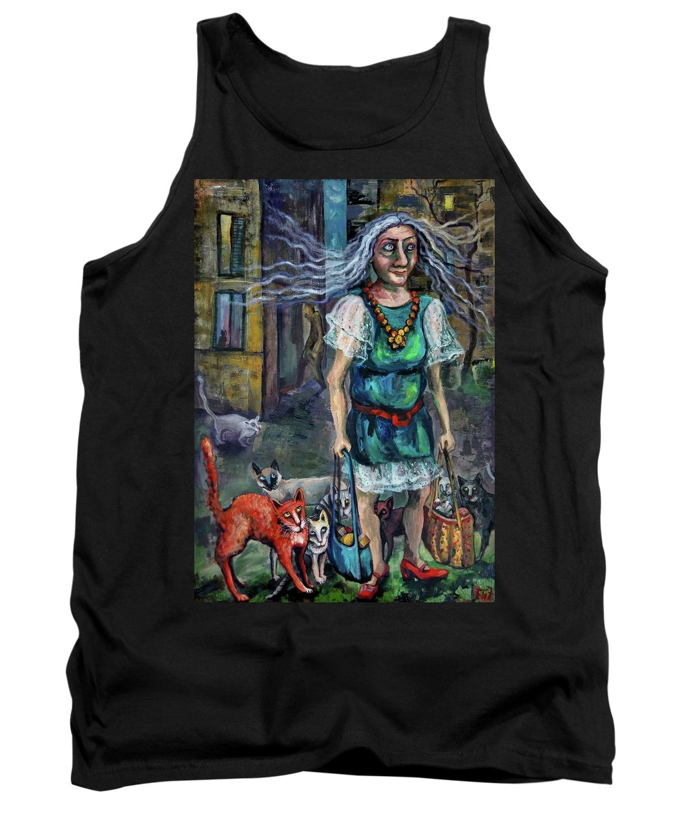 Leader Tank Top featuring the painting Pride Leader by Elisheva Nesis