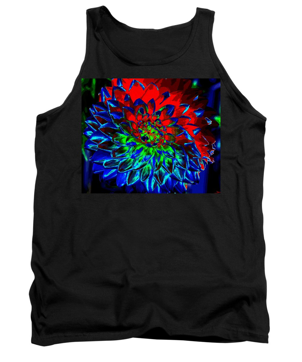 Art Tank Top featuring the painting Primary Colors by David Lee Thompson