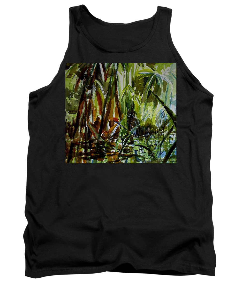 Framed Prints Tank Top featuring the painting Pristine Waters by Julianne Felton