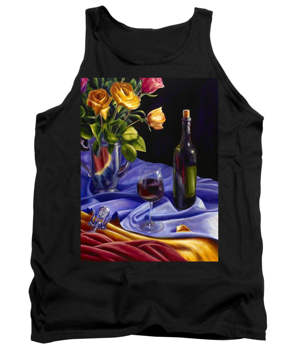 Still Life Tank Top featuring the painting Private Label by Shannon Grissom