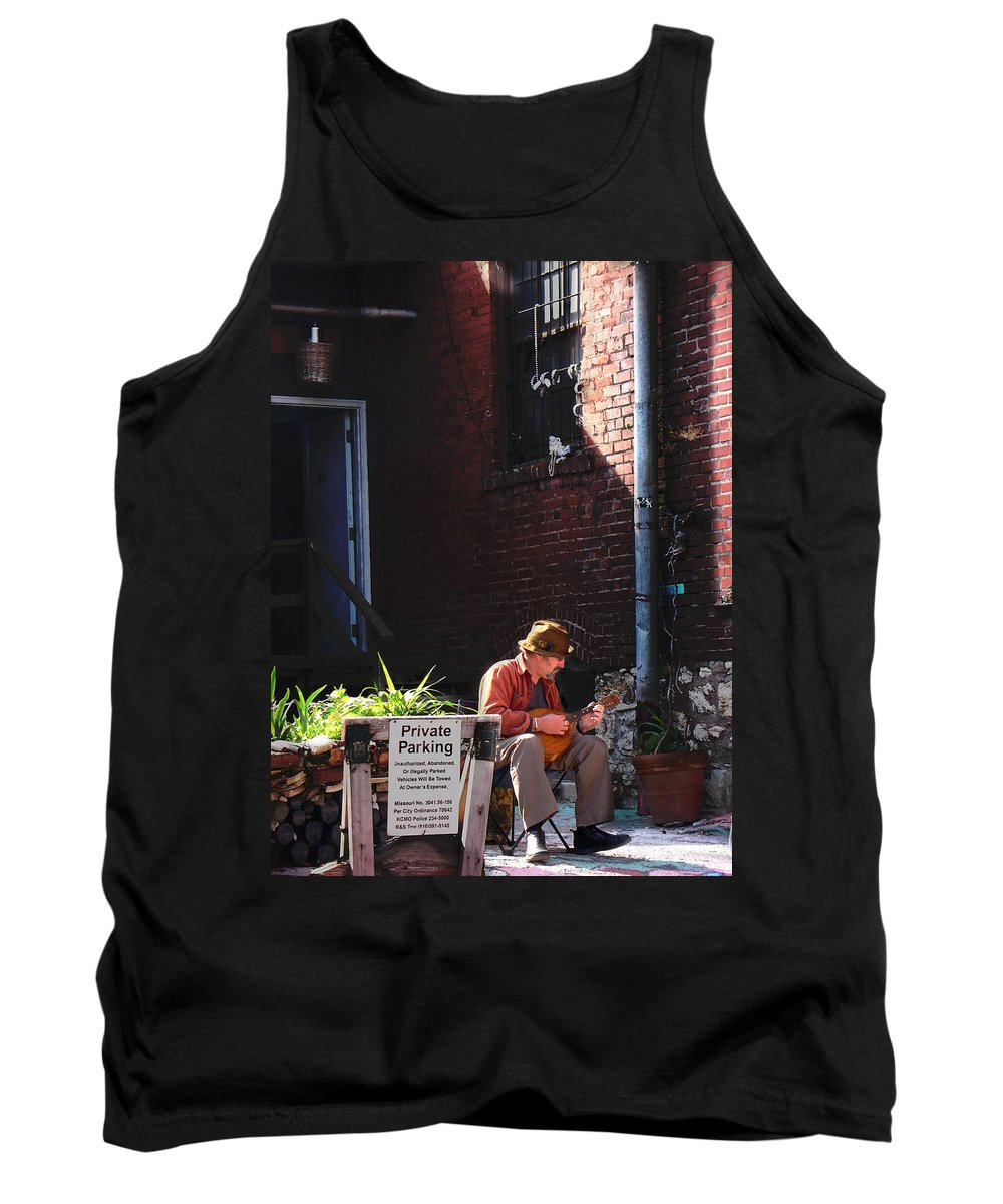 City Scape Tank Top featuring the photograph Private Parking by Steve Karol