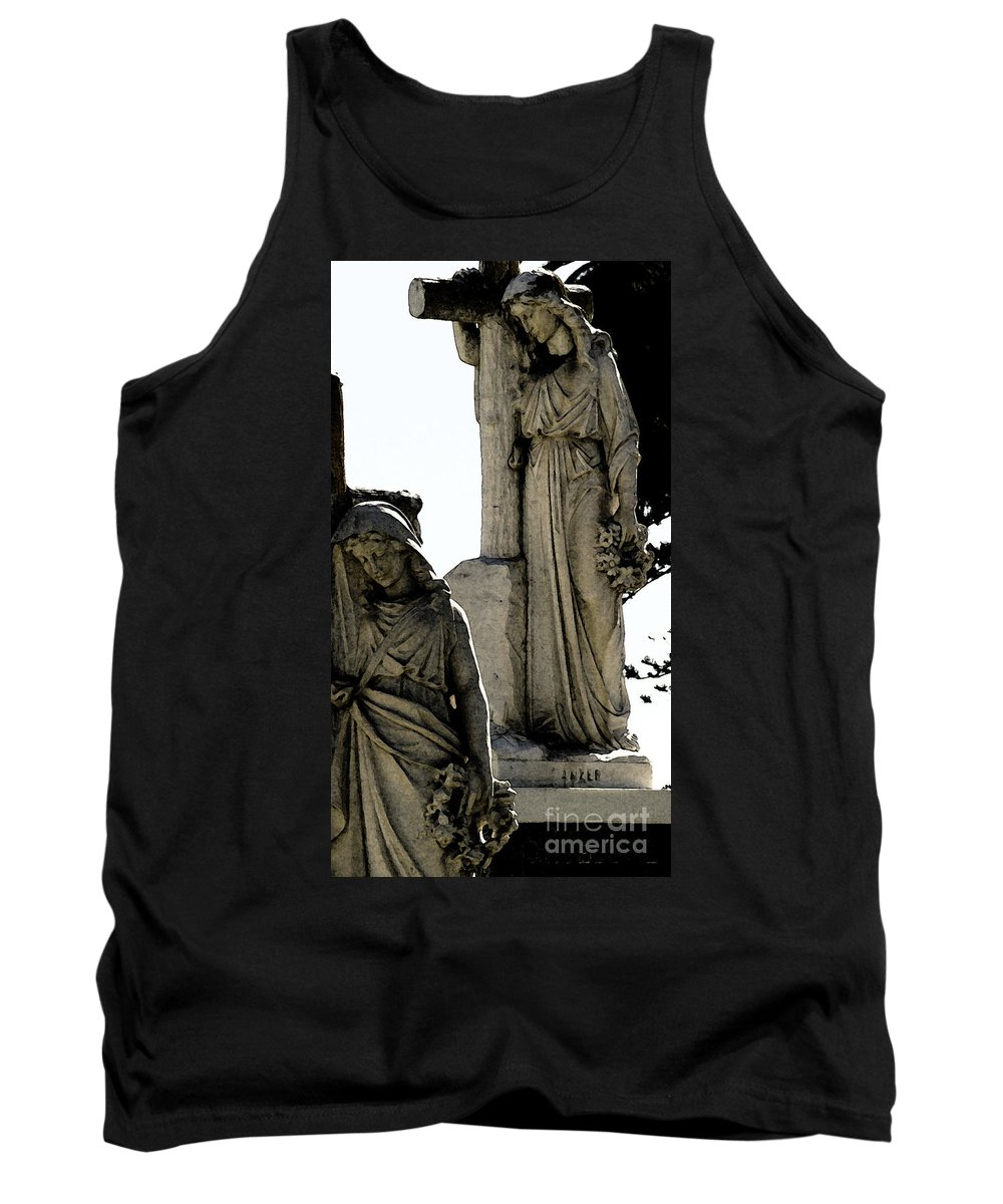 Cross Tank Top featuring the photograph Procession Of Faith by Linda Shafer