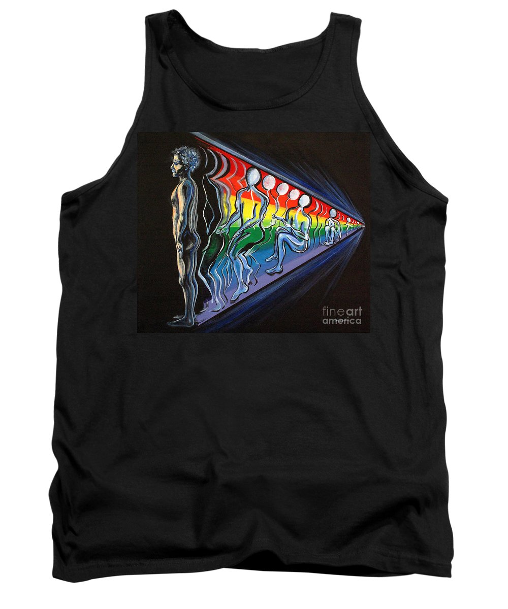Spiritual Tank Top featuring the painting Projection by Joyce Jackson