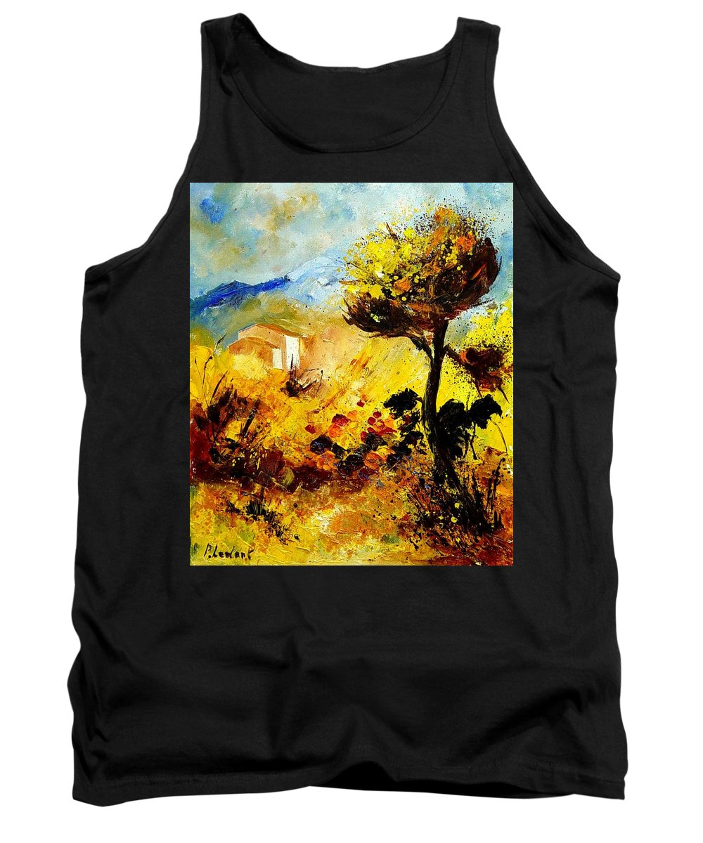 Flowers Tank Top featuring the painting Provence 56 by Pol Ledent