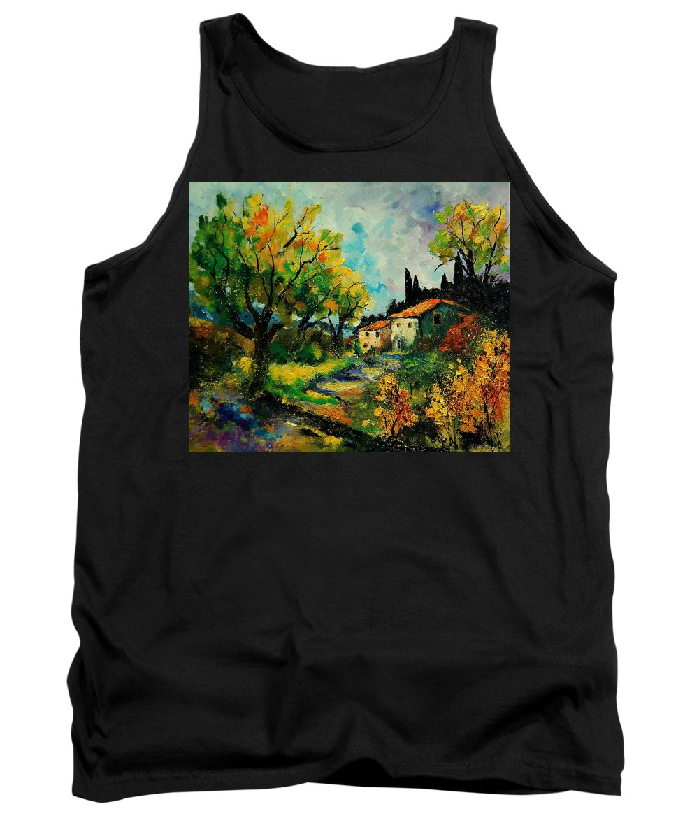 Landscape Tank Top featuring the painting Provence 670110 by Pol Ledent