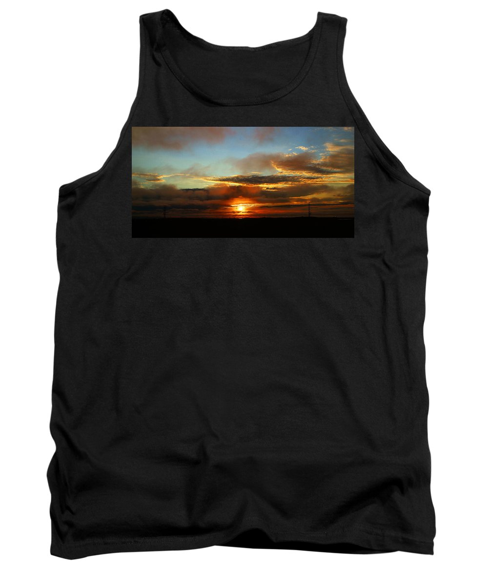 Sunset Tank Top featuring the photograph Prudhoe Bay Sunset by Anthony Jones