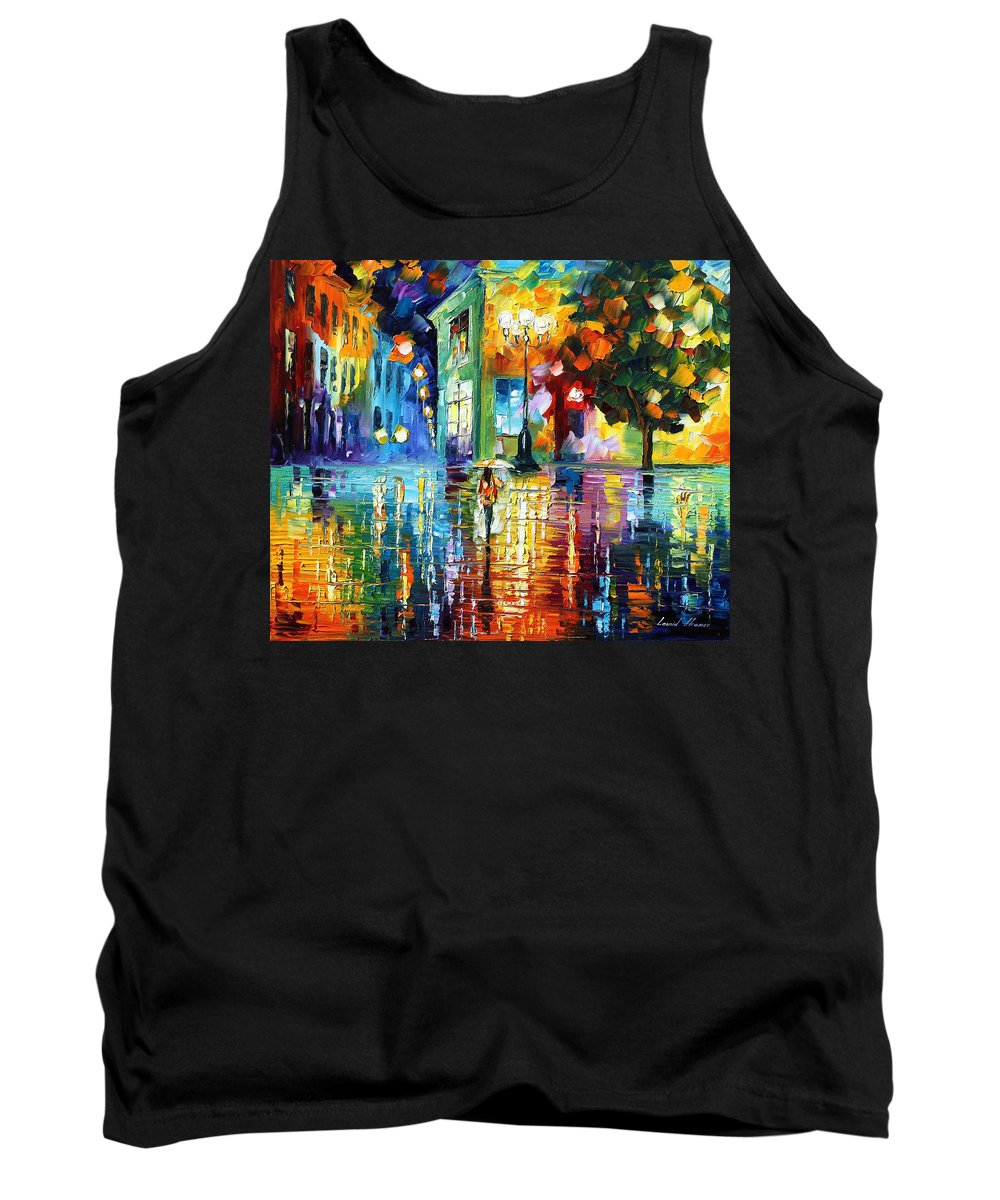 City Tank Top featuring the painting Psychedelic City by Leonid Afremov